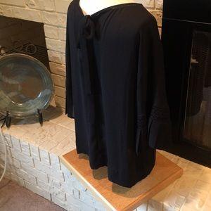 Silky dress top  w/ tie in back